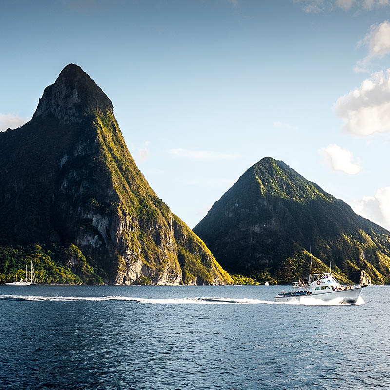The Piton mountains in St. Lucia